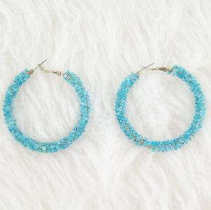 ⭕ [MUST BUNDLE] Gold & Blue Earrings
